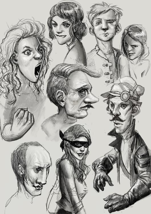 illustration, characterdesign - pencilpirate | ello