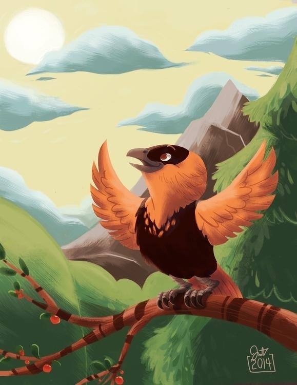 orange bird 7 days color challe - jm_amante02 | ello
