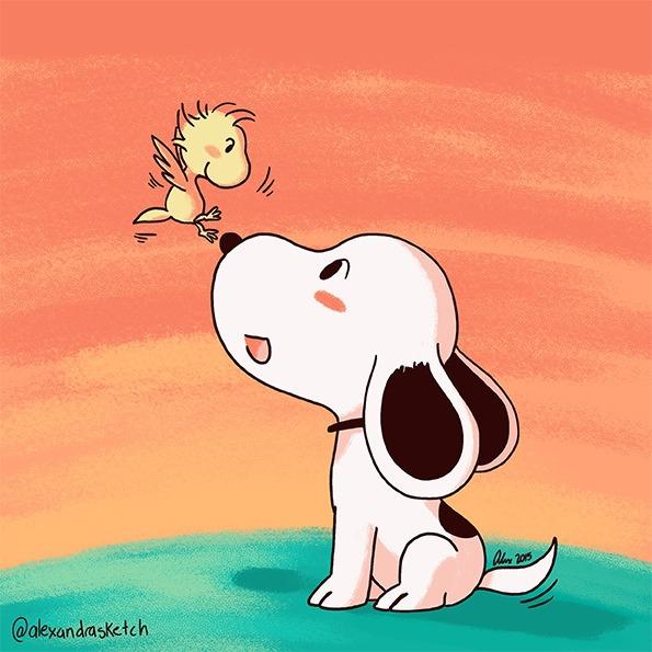 Snoopy Sketch Dailies - snoopy, woodstock - alexandrasketch | ello