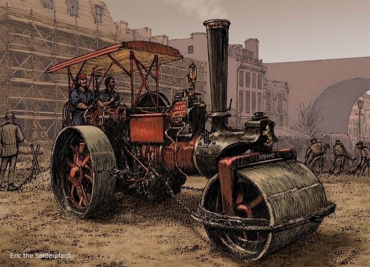 Steamroller. greeting card Art  - dannybriggs | ello