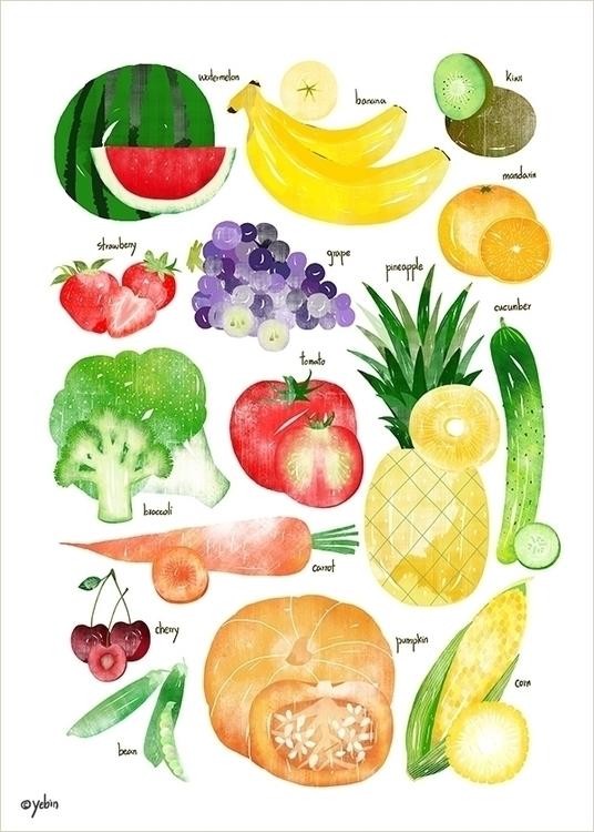 fruit vegetable chart - conceptart - yebin | ello