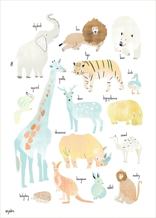 animal chart - illustration, painting - yebin | ello