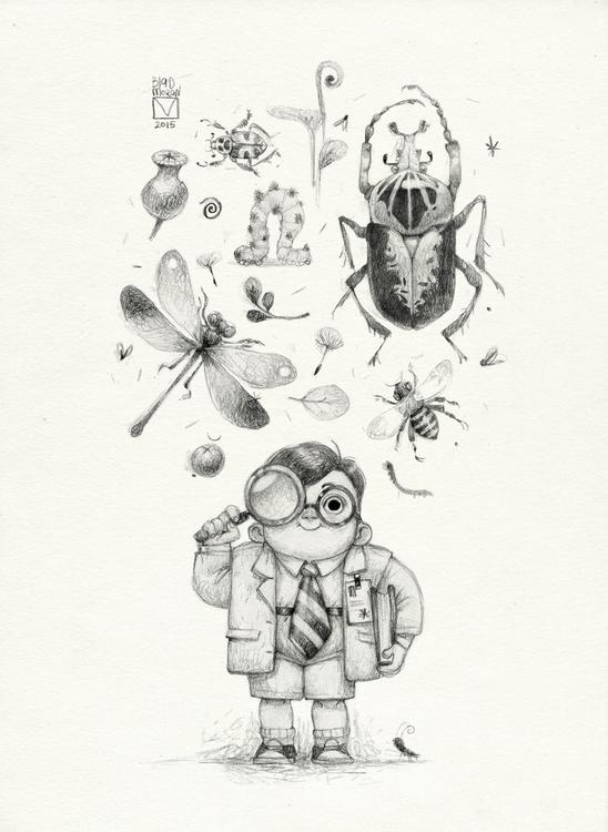 Sketchtober | 009 - sketch, bugs - blad_moran | ello