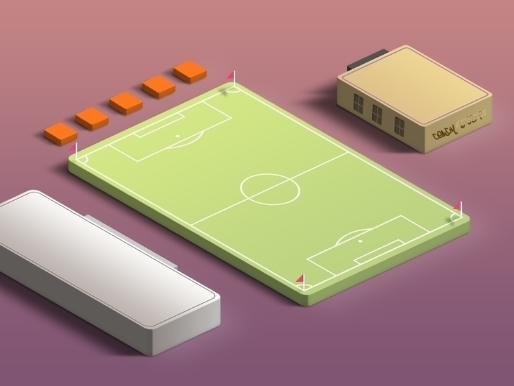 painted football field building - extremall-1300 | ello