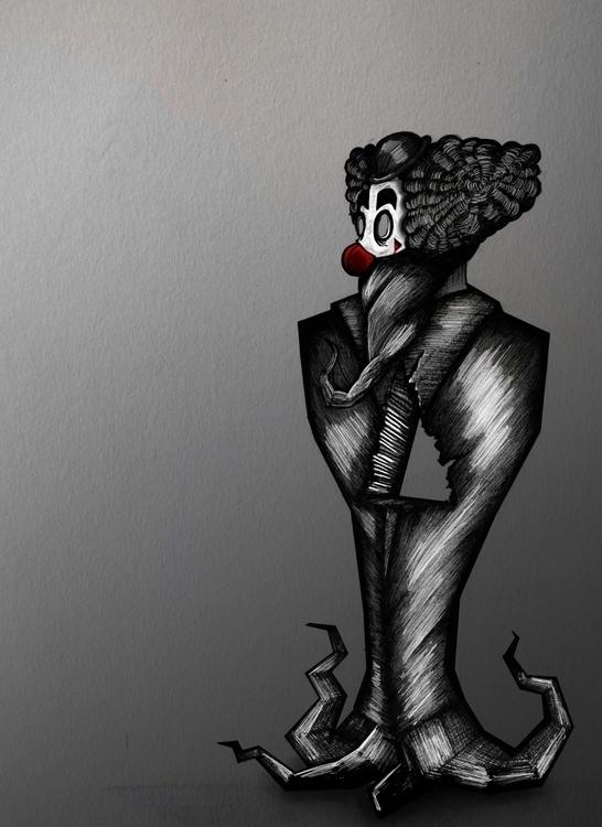 Clown Shadow - illustration, characterdesign - mp-1845 | ello