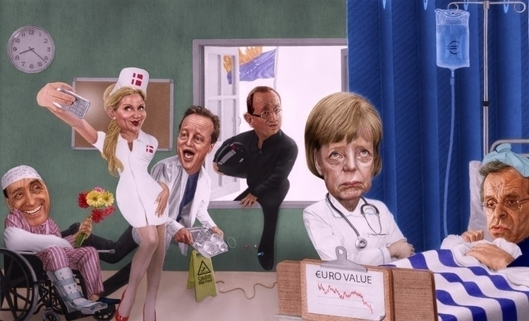 Europe Coma - illustration, drawing - fabiopaolucci | ello