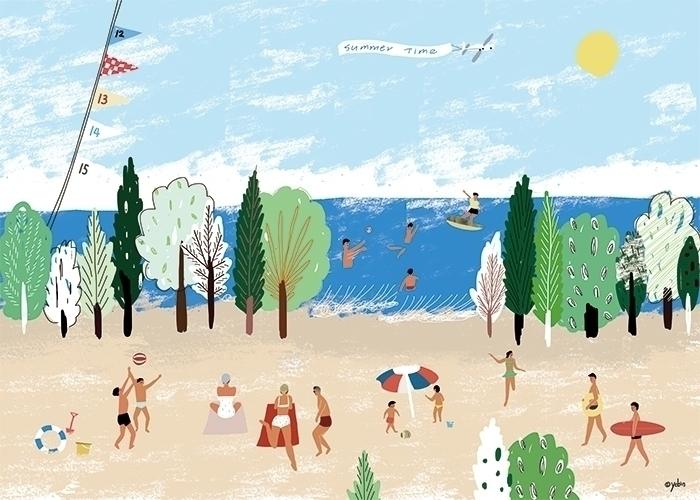 Season_Summer - illustration, painting - yebin | ello