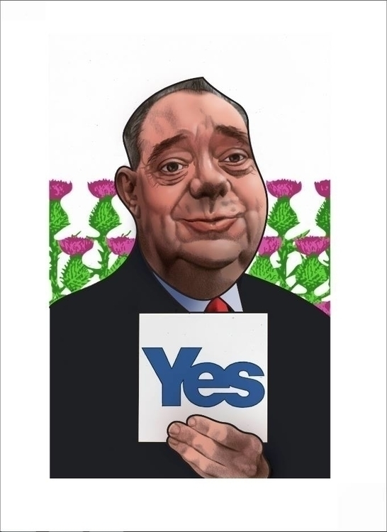 Alex Salmond  - illustration, drawing - fabiopaolucci | ello