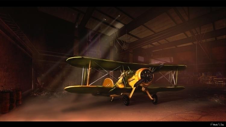 Hangar - illustration, digitalpainting - kuukistudio | ello