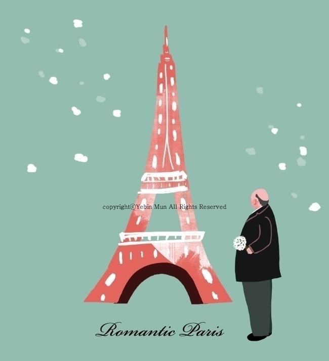 Romantic Paris - illustration, painting - yebin | ello