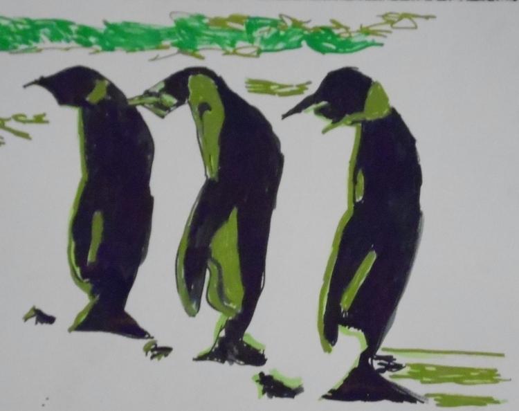 penguins, illustration, popart - kleckerlabor-5193   ello