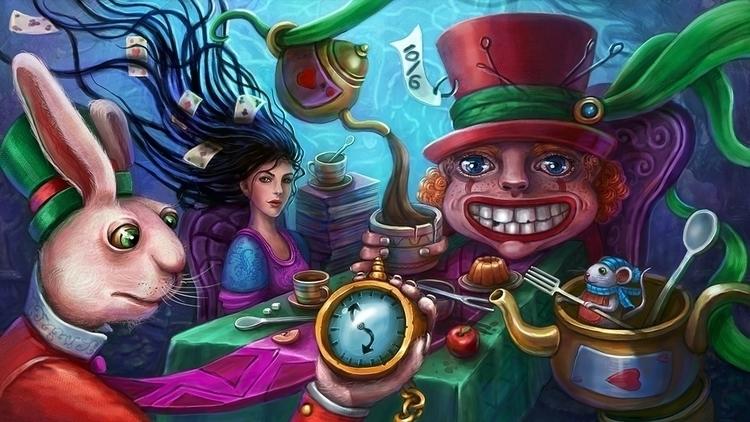 Alice - illustration, painting, drawing - solei-6035   ello