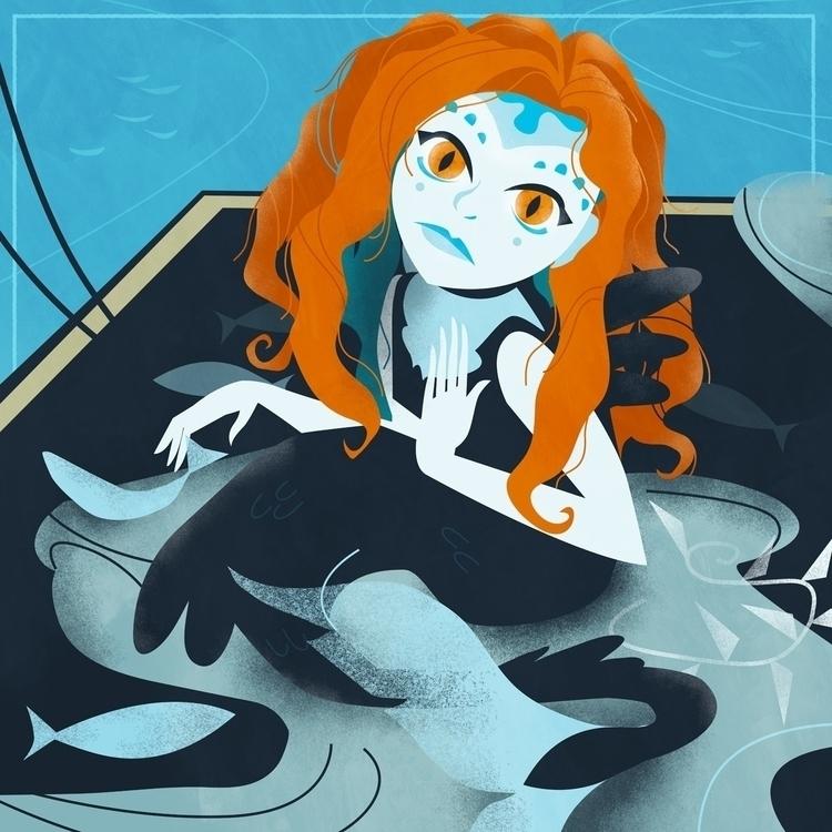 Lost Sea 3/8 - mermaid, illustration - cecimonster | ello