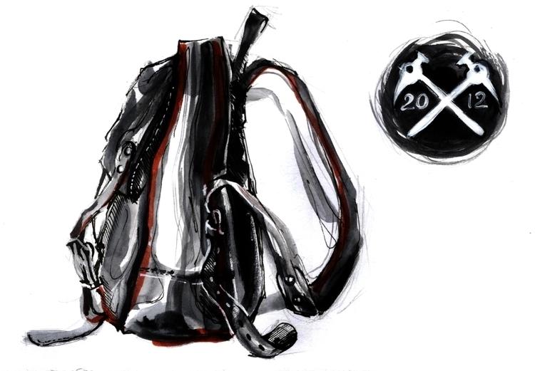 illustration, painting, bag, watercolor - annagosteva | ello