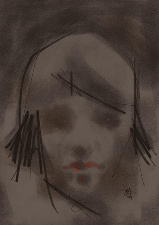 Matilda - illustration, painting - sherifsamy   ello
