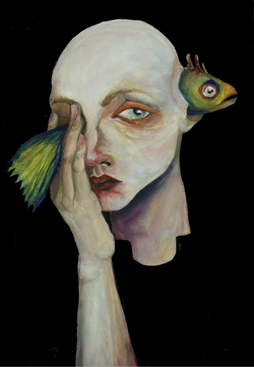 FishHead - fish, portrait, face - dashasadovnikova | ello