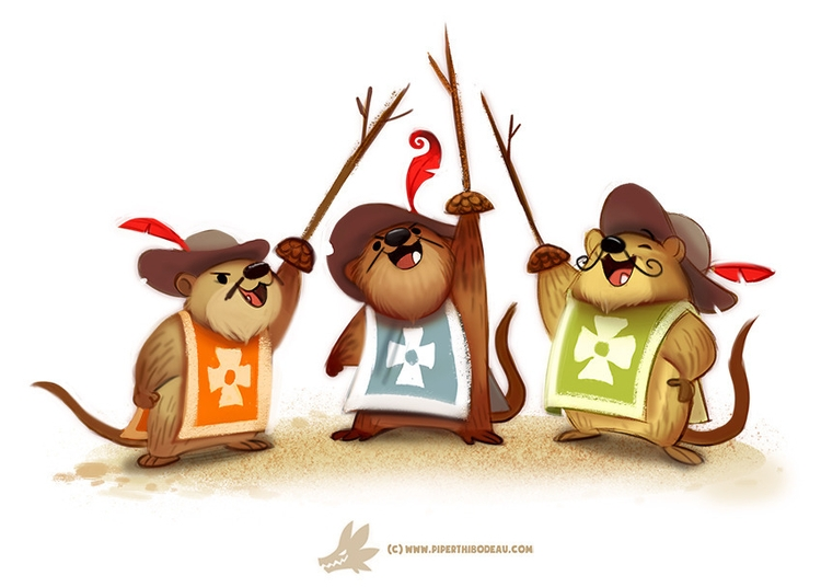 Daily Paint Muskrateers - 1241. - piperthibodeau | ello