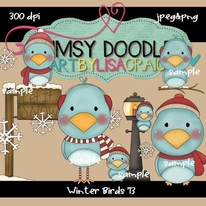 Winter Birds - illustration - lisacraig | ello