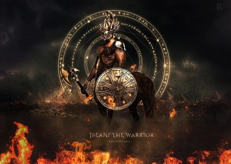 Jelani Warrior - characterdesign - rhayvencoats   ello
