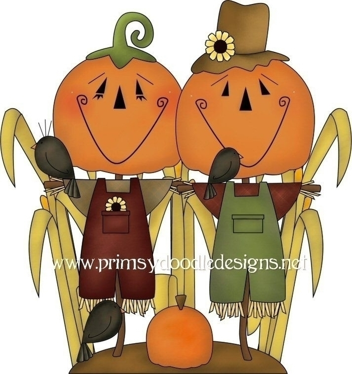 Pumpkin Scarecrows - illustration - lisacraig | ello