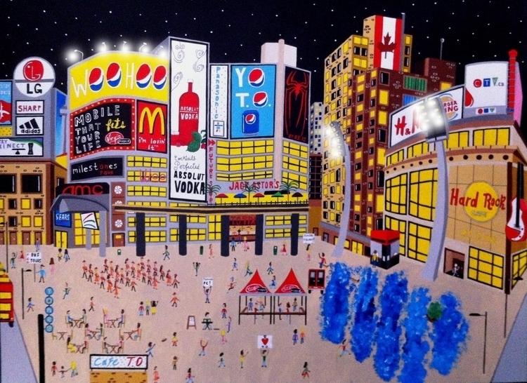 Dundas Square, Toronto - painting - mohanballard | ello