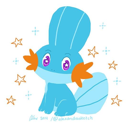 Lil Mudkip - mudkip, pokémon, fanart - alexandrasketch | ello