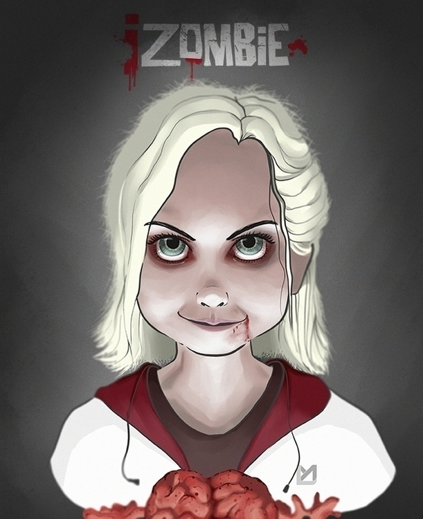 izombien fan art - Liv Moore - illustration - luismonroy | ello