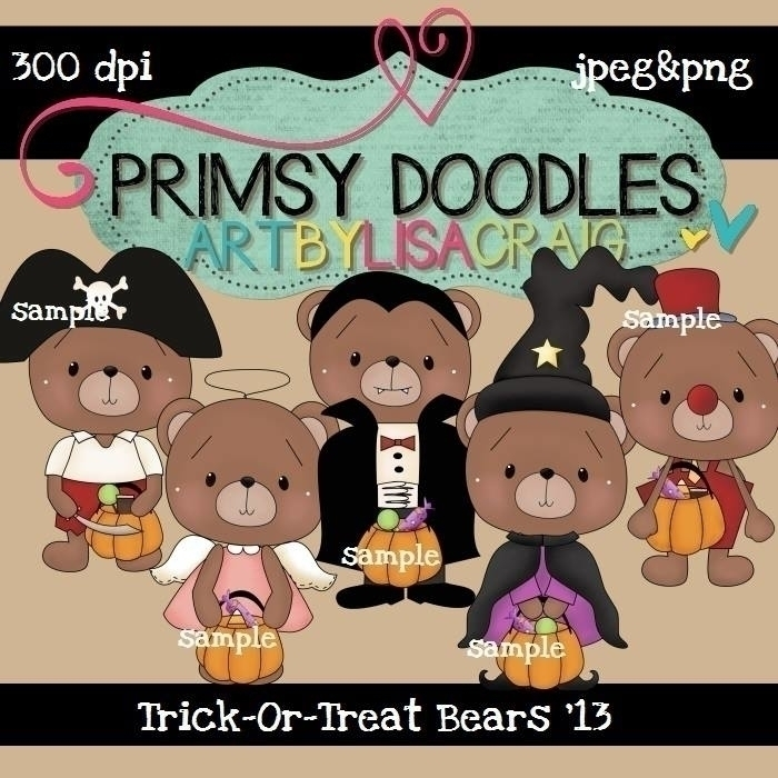 Halloween Bears - illustration - lisacraig | ello