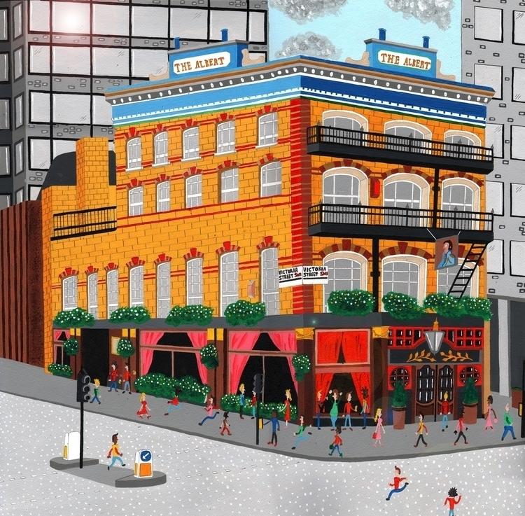 Albert Pub, London - london, acrylic - mohanballard   ello