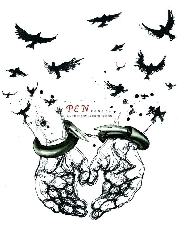 Pen Canada Poster - political, birds - sillustrations | ello