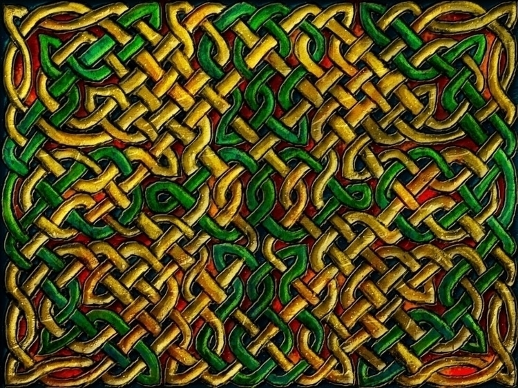 Reverse Knotwork - knotwork, digitalart - crysodenkirk | ello