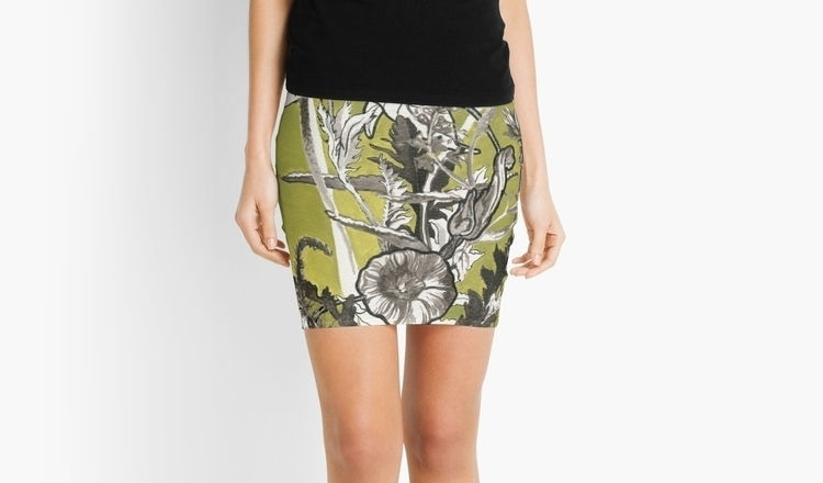 luscious floral pencil skirt, L - lisawiersma | ello