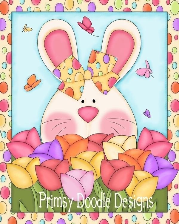 Bunny Flag - illustration - lisacraig | ello