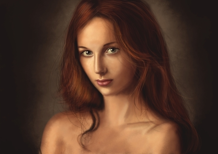 Portrait femme fait sur photosh - yanncreation | ello