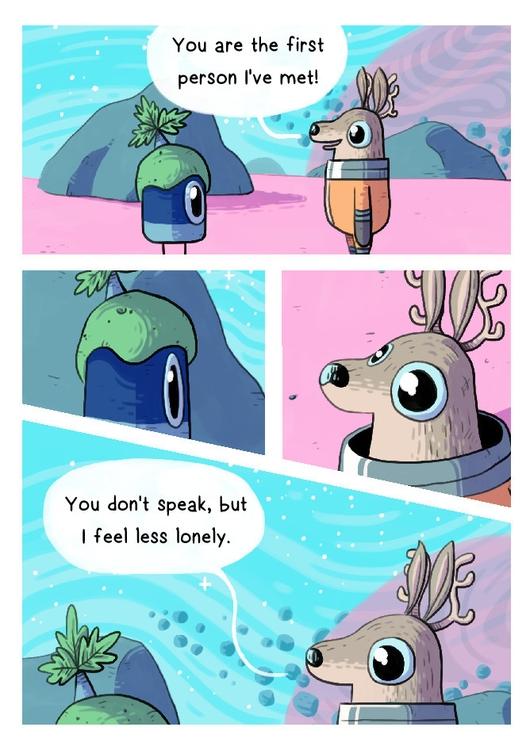 space, deer, comic - indiana_jonas | ello