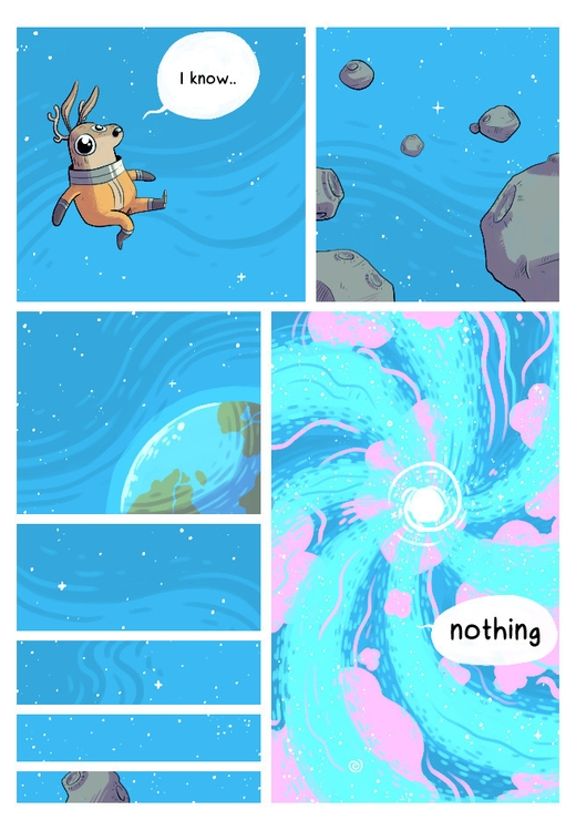 space, deer, comic - indiana_jonas | ello