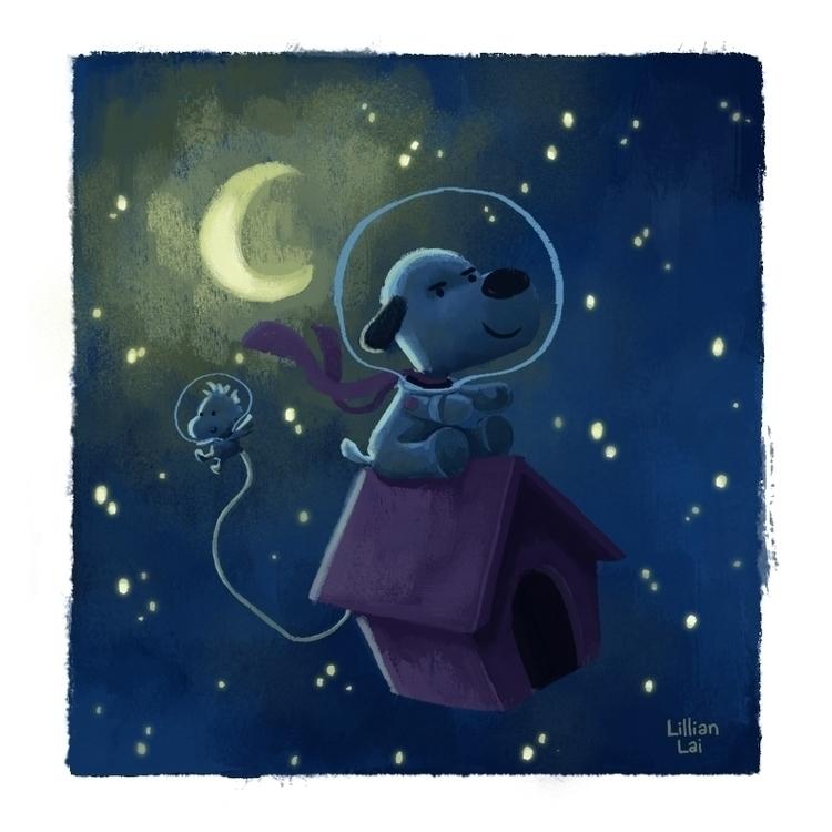 beagle moon! beat russians.. st - lillisketch | ello