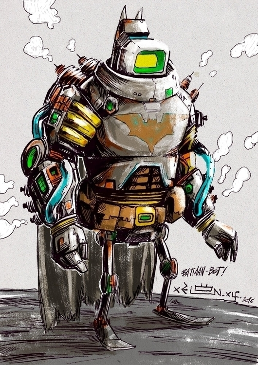 interpretation Batman robot dra - xelonxlf | ello