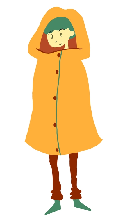 Girl raincoat - digitalart, characterdesign - carissarenard | ello