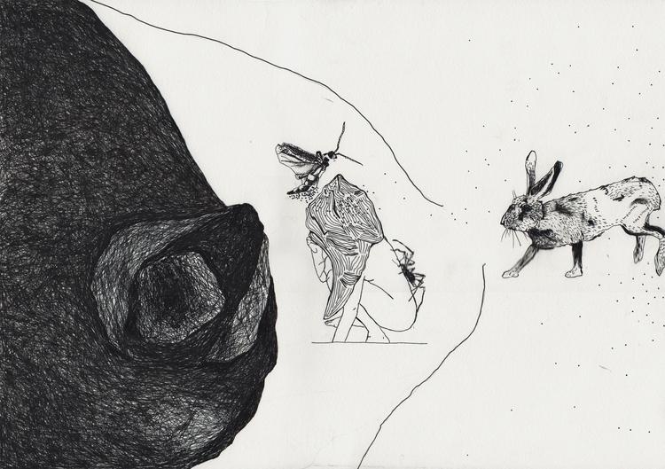 weakness - illustration, drawing - unselvaggioemezzo   ello
