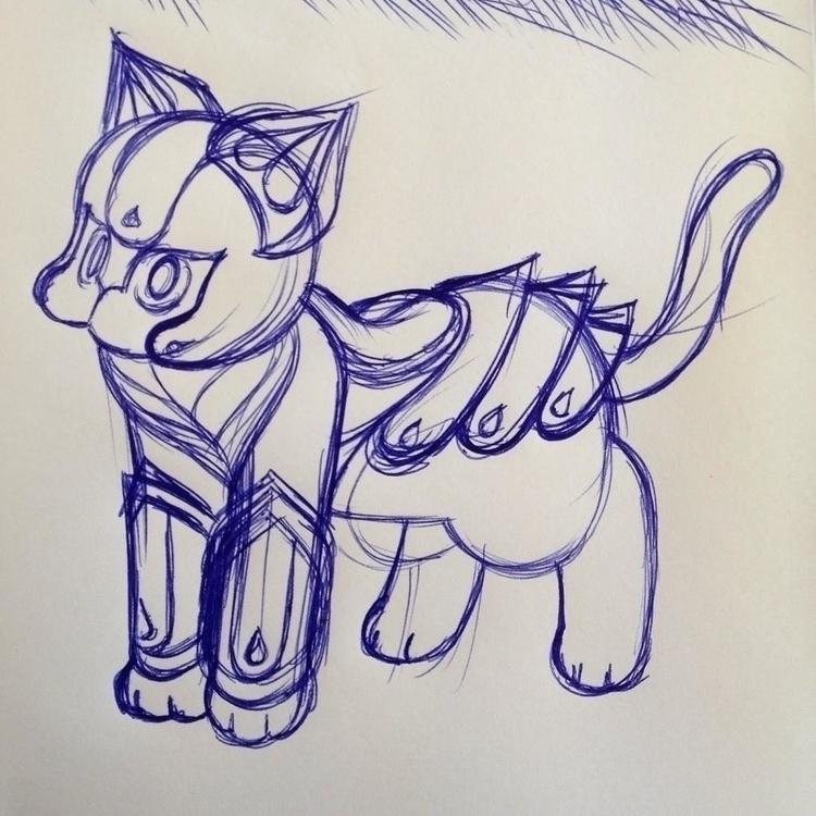 Barbadango, cat shining armor - caltsoudas | ello