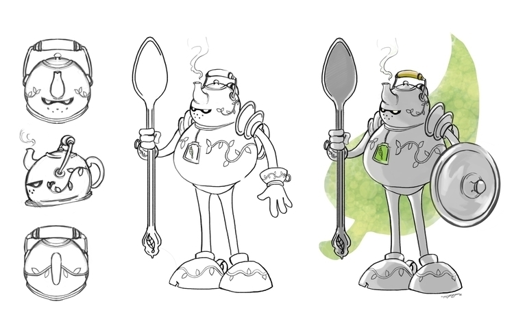 TeaCup Knight / El Caballero de - tofervs | ello