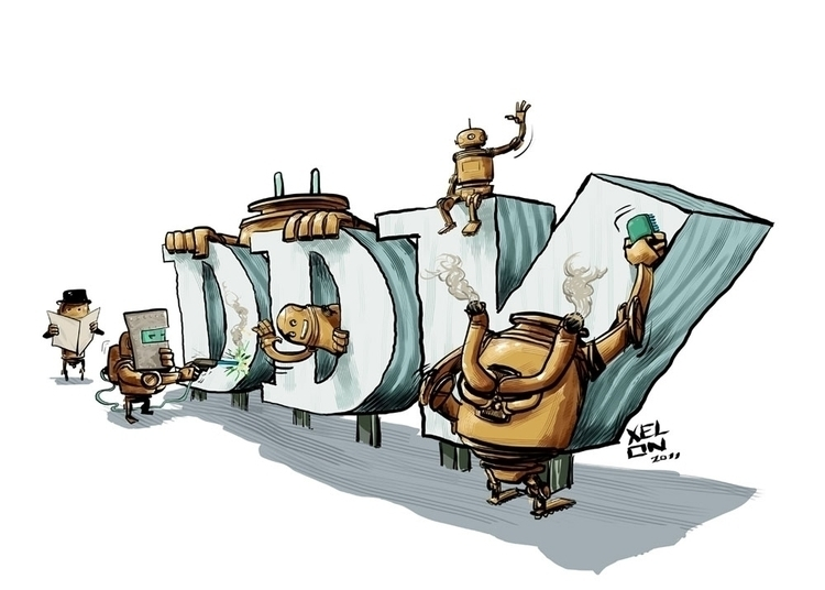 DDV gift - ddv, giftart, robot, robots - xelonxlf | ello