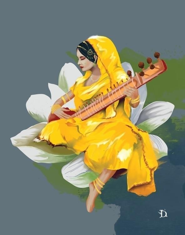 Lotus meera - painting, digitalart - ilitch | ello