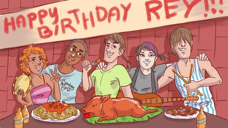 birthday, friends, celebration - thisjustine | ello