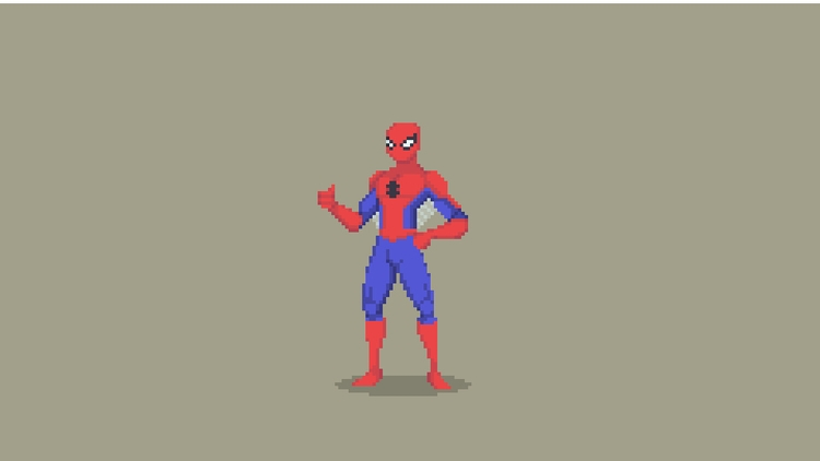Spider-Man Pixel Art - Original - planckpixels | ello