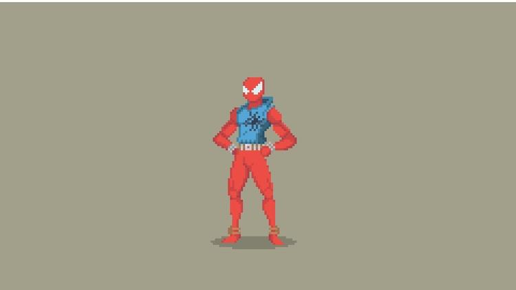 Spider-Man Pixel Art - Scarlet  - planckpixels | ello