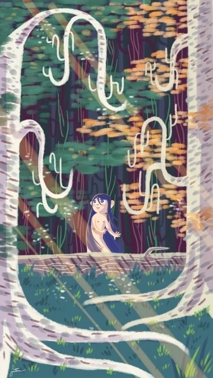 forest, babe, woods, girl - thisjustine | ello