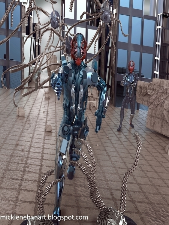 Charging - robot, sci-fi, 3d, zbrush - mikl-3563 | ello