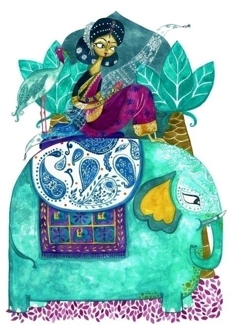Story India - illustration, india - plantusmarina | ello